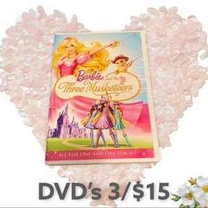 Barbie and the Three Musketeers disc